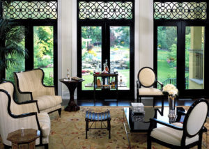 faux iron grille window coverings