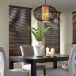 wood blinds dining room